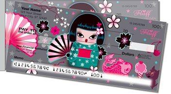 Kimono Cutie Side Tear Design Checks