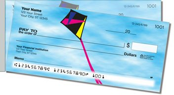 Kite Flying Side Tear Personalized Checks