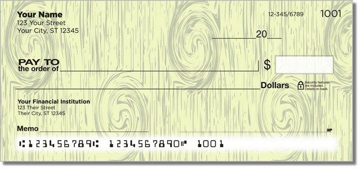 Knots in Wood Personal Checks