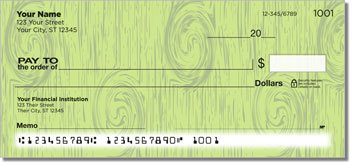 Knots in Wood Personalized Checks