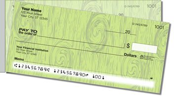 Knots in Wood Side Tear Personalized Checks