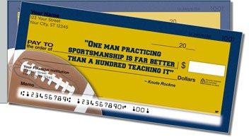 Knute Rockne Side Tear Personalized Checks