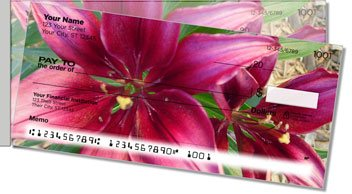 Lily Side Tear Personalized Checks