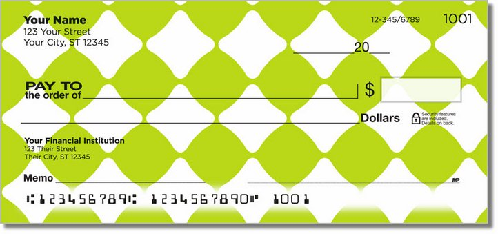 Lime Green Bead Personal Checks