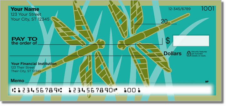 Lindgren Dragonfly Personal Checks