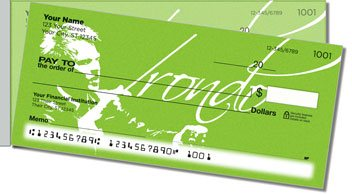 Music Conductor Side Tear Personalized Checks