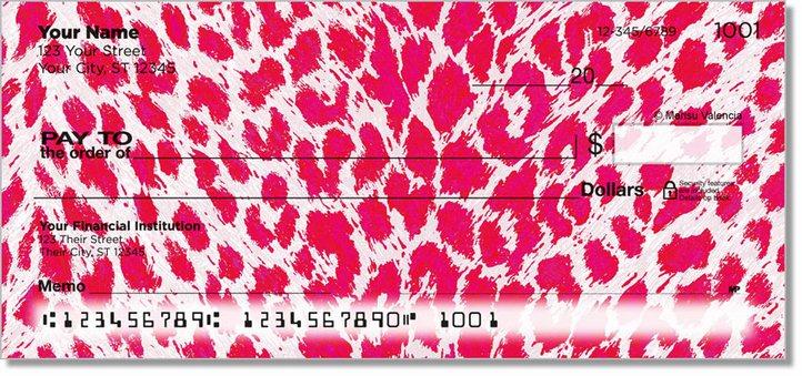 Neon Leopard Personal Checks