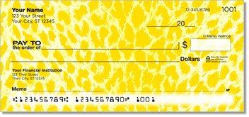 Neon Leopard Personalized Checks