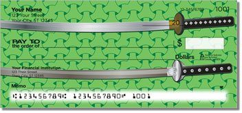 Ninja and Samurai Personalized Checks