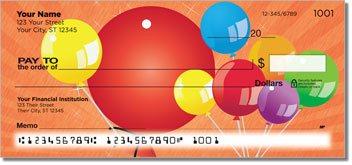 Party Balloon Personalized Checks