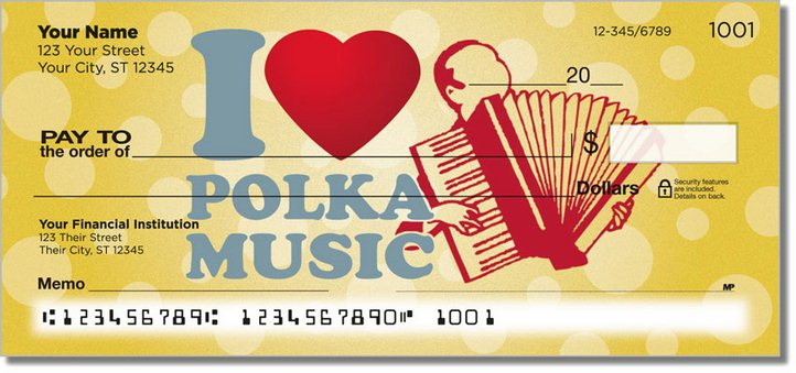 Polka Music Personal Checks