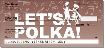 Polka Music Personalized Checks
