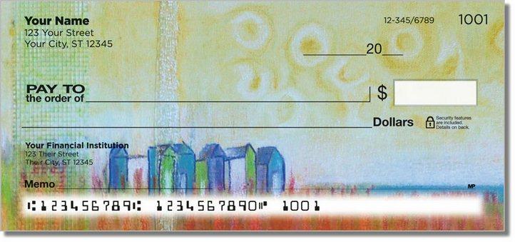 Semi Abstract Personal Checks