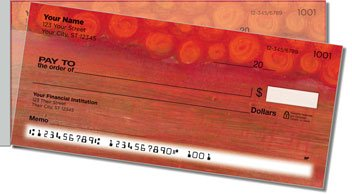 Semi Abstract Side Tear Personalized Checks