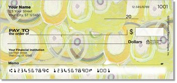 Sepia Butterflies Yellow Personalized Checks