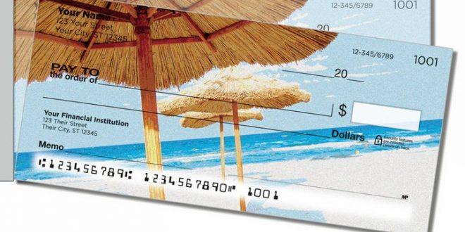 Tropical Beach Side Tear Personal Checks