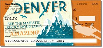 Vintage Travel Personalized Checks