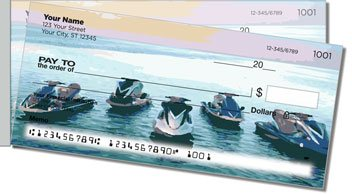 Wave Rider Side Tear Personalized Checks