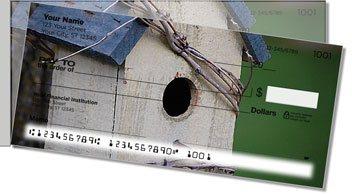 Wooden Birdhouse Side Tear Design Checks
