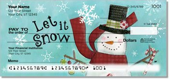 Zipkin Snowmen Personalized Checks