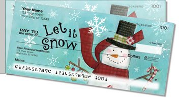Zipkin Snowmen Side Tear Personalized Checks