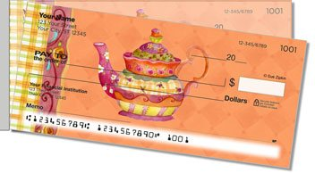 Zipkin Tea Side Tear Personalized Checks