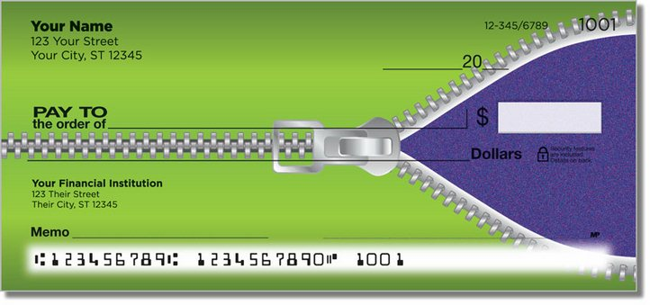 Zipper Personal Checks