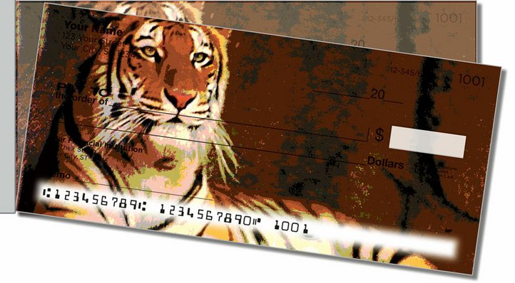 Zoo Animal Side Tear Personal Checks
